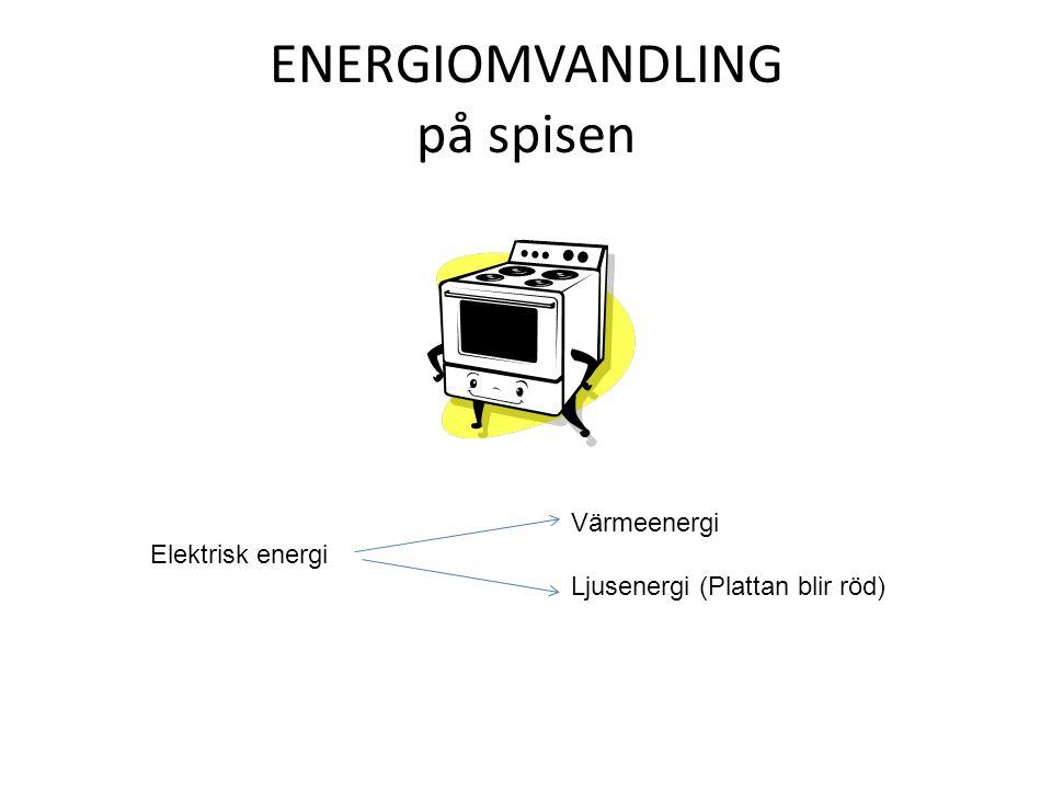 ENERGIOMVANDLING på spisen