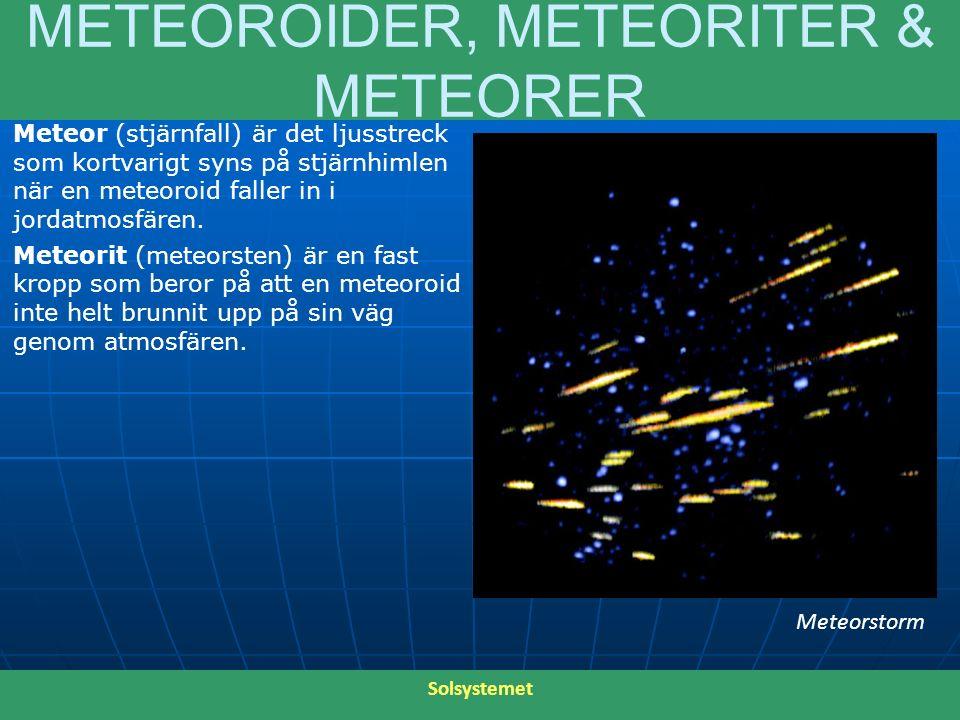 METEOROIDER, METEORITER & METEORER