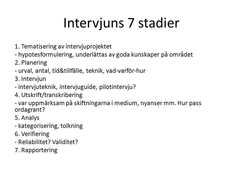 Intervjuns 7 stadier