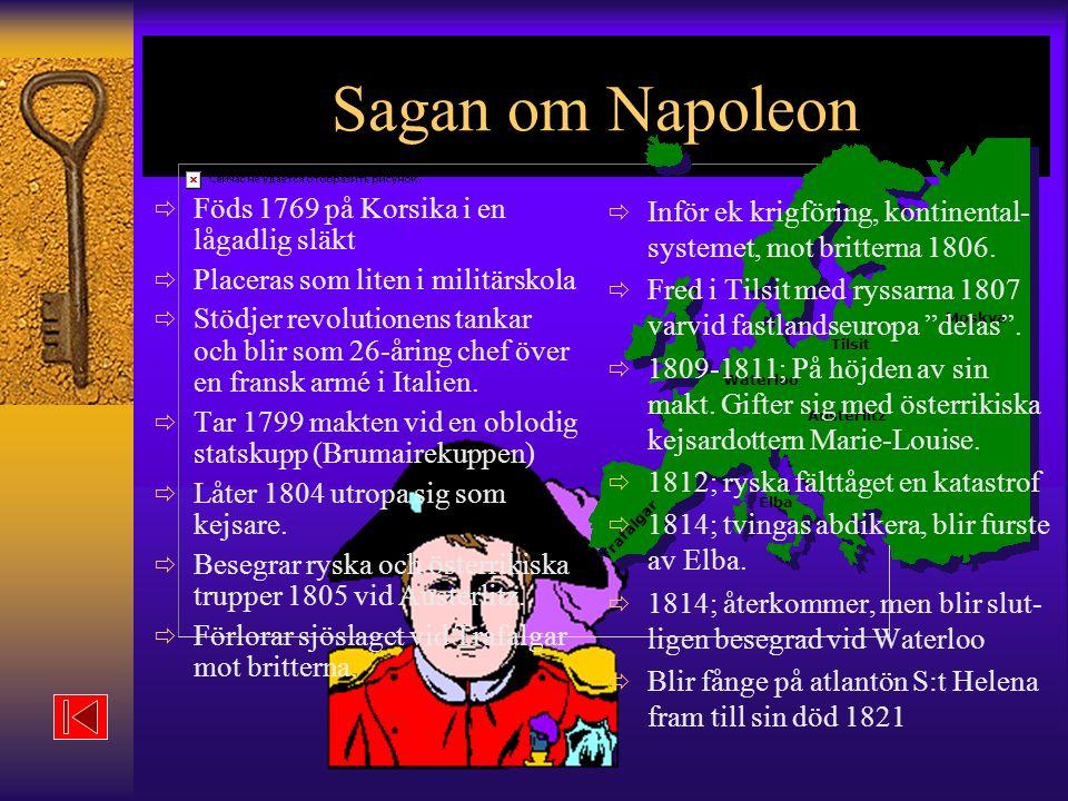 Sagan om Napoleon Föds 1769 på Korsika i en lågadlig släkt