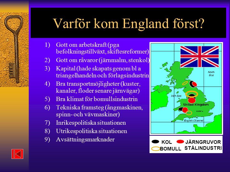 Varför kom England först