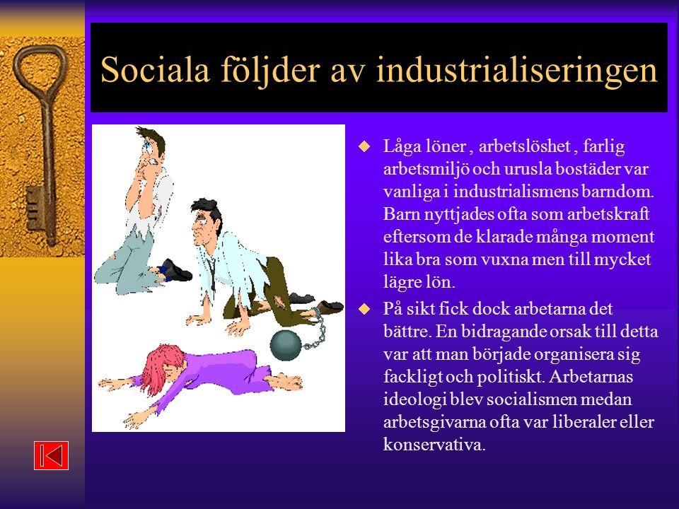 Sociala följder av industrialiseringen