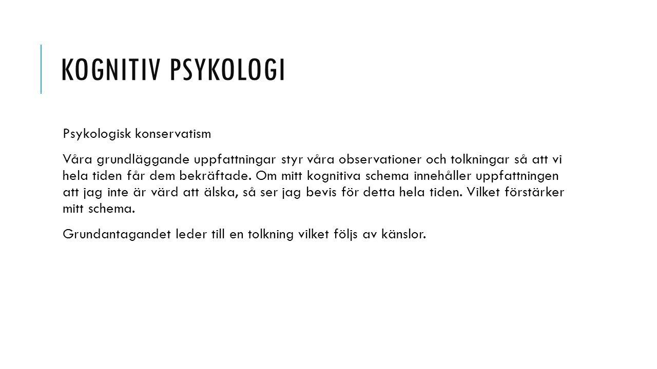 Kognitiv psykologi Psykologisk konservatism