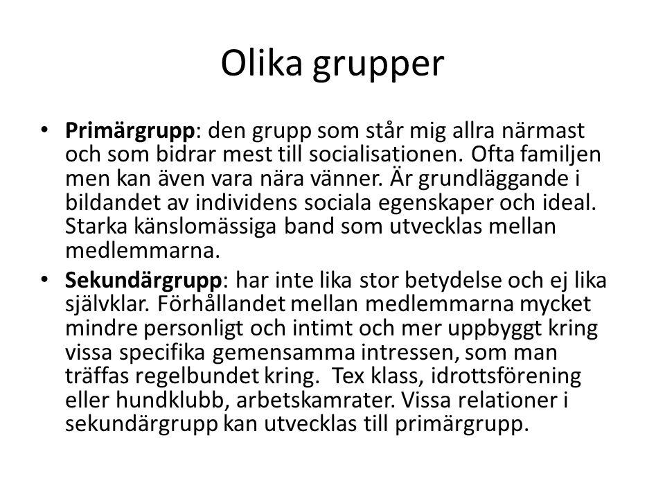 Olika grupper