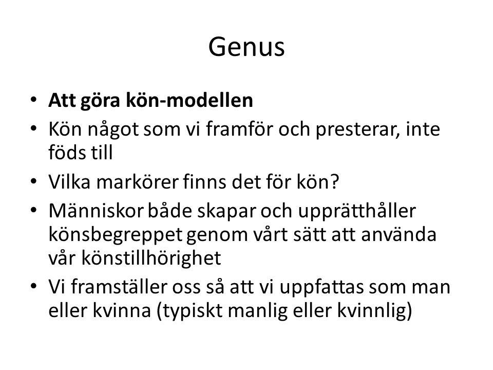 Genus Att göra kön-modellen