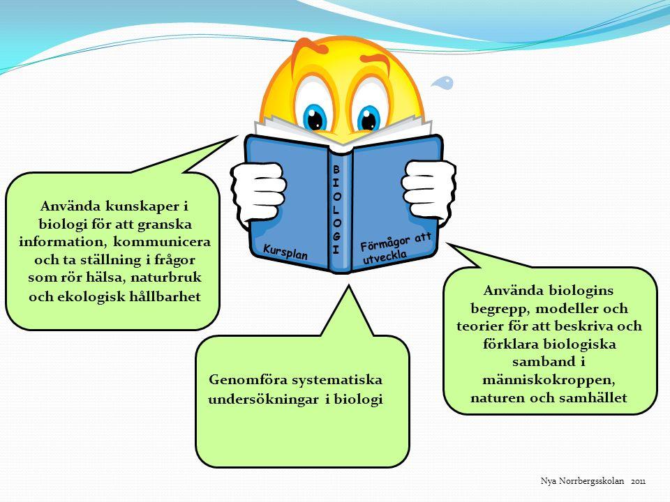 Genomföra systematiska undersökningar i biologi