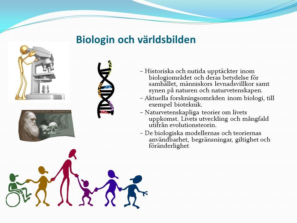 Biologin och världsbilden