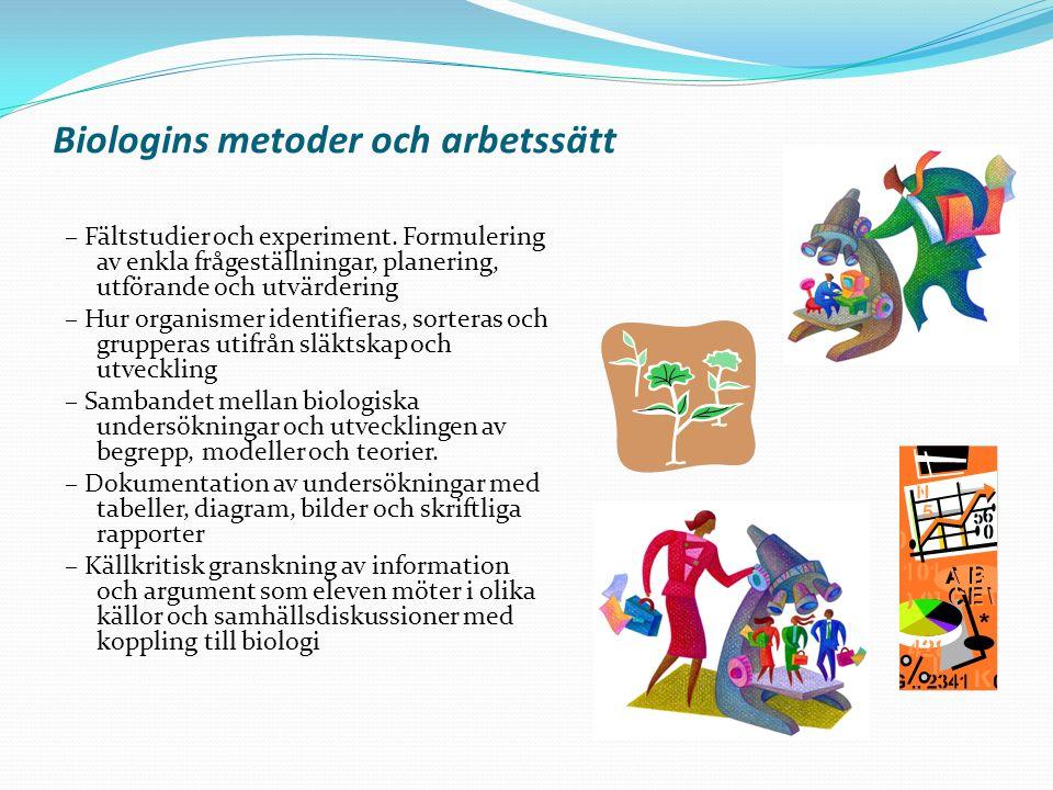 Biologins metoder och arbetssätt
