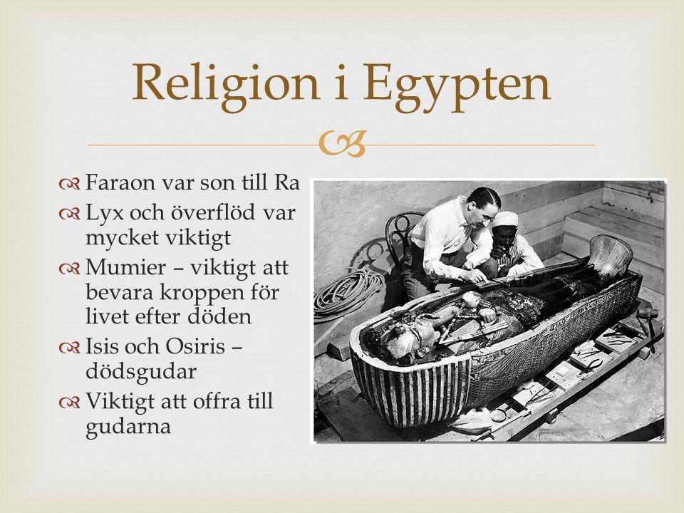 Religion i Egypten Faraon var son till Ra