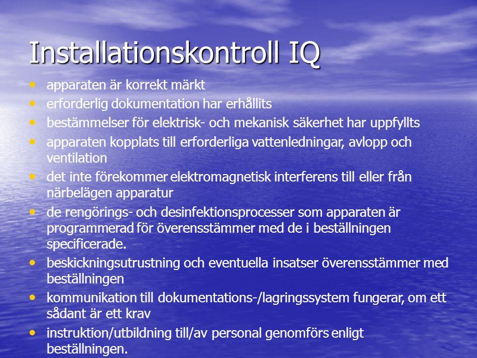 Installationskontroll IQ