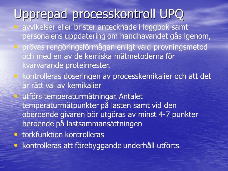 Upprepad processkontroll UPQ