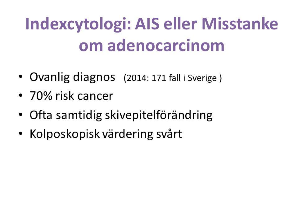 Indexcytologi: AIS eller Misstanke om adenocarcinom
