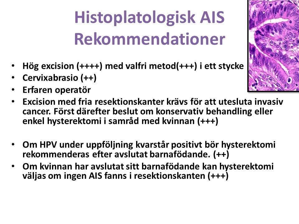 Histoplatologisk AIS Rekommendationer