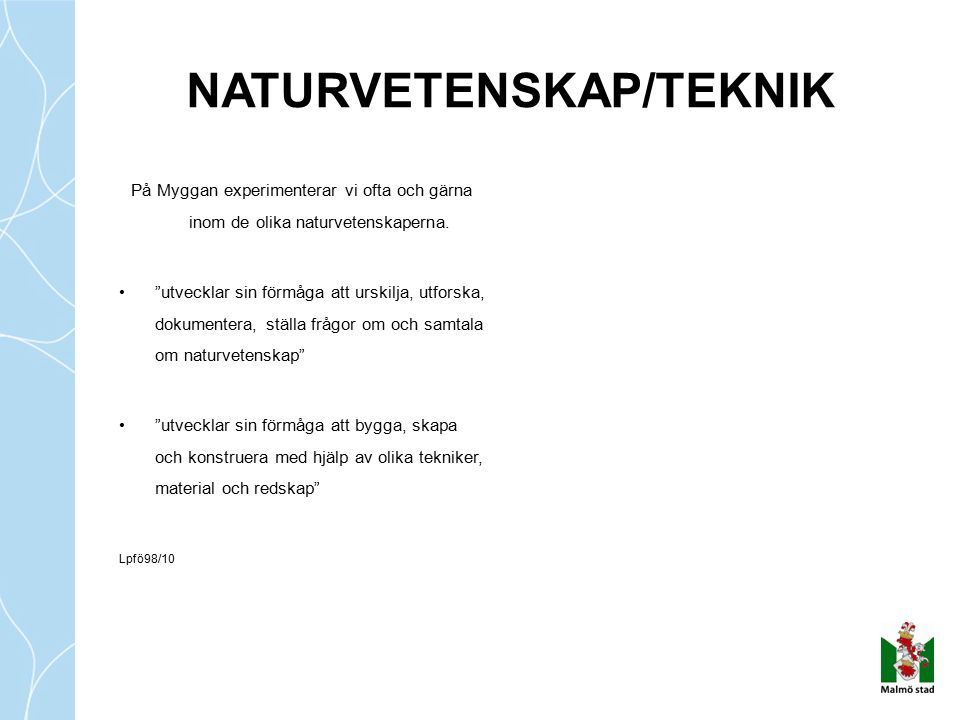 NATURVETENSKAP/TEKNIK