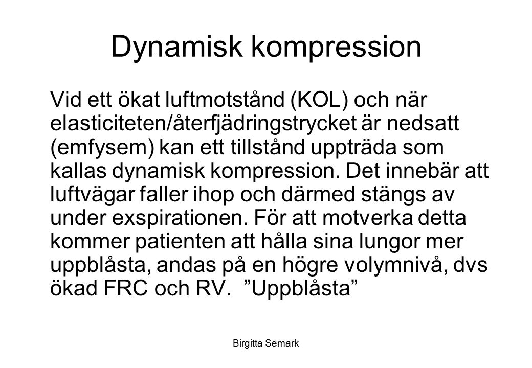 Dynamisk kompression