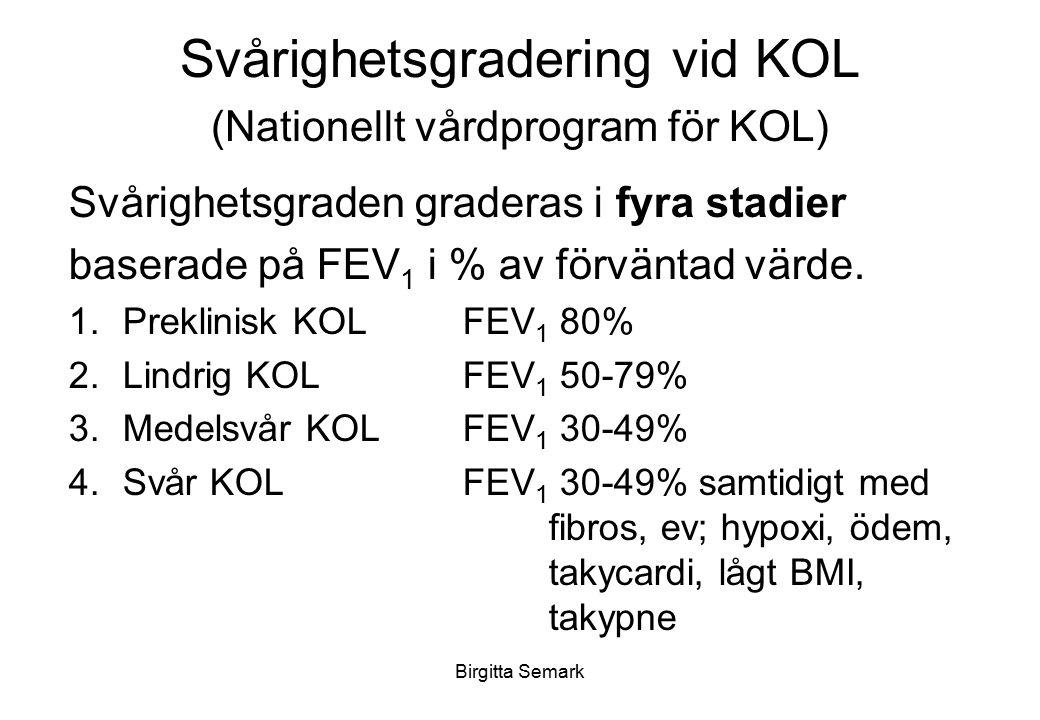 Svårighetsgradering vid KOL (Nationellt vårdprogram för KOL)