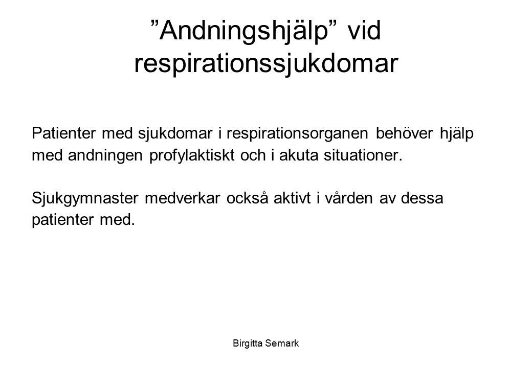 Andningshjälp vid respirationssjukdomar