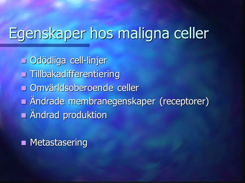 Egenskaper hos maligna celler