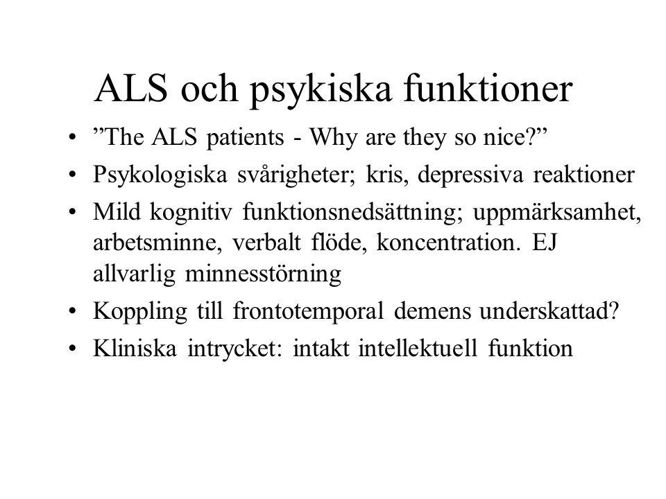 ALS och psykiska funktioner