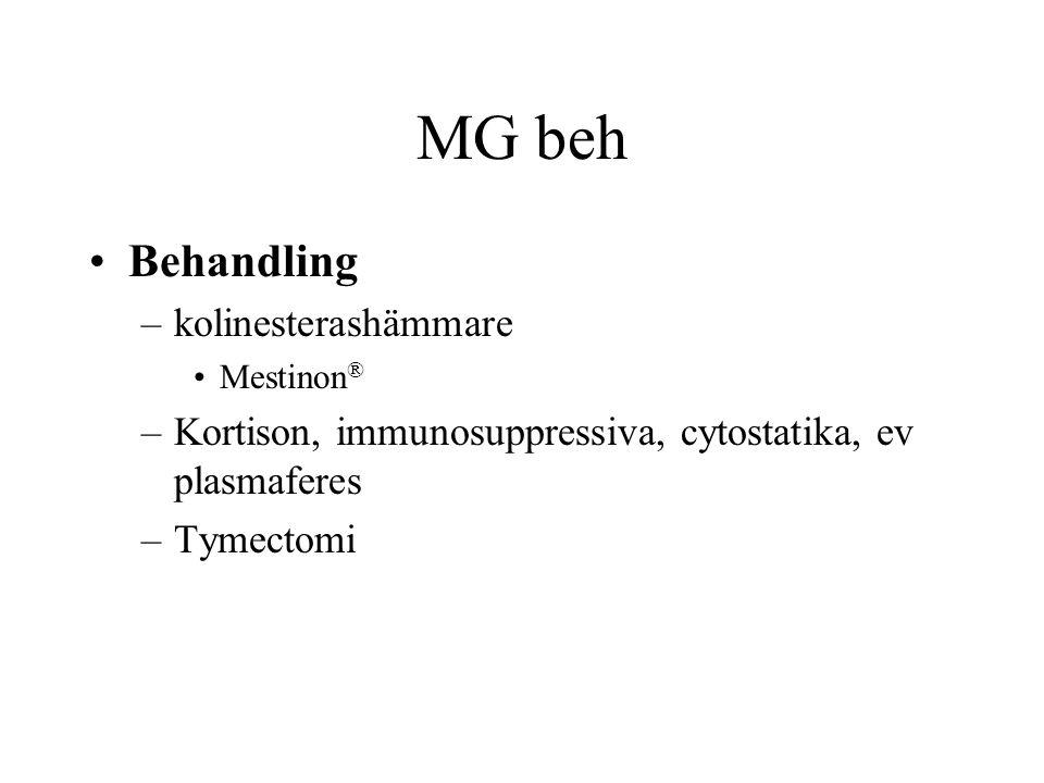 MG beh Behandling kolinesterashämmare