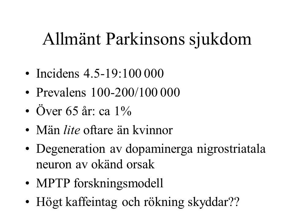 Allmänt Parkinsons sjukdom