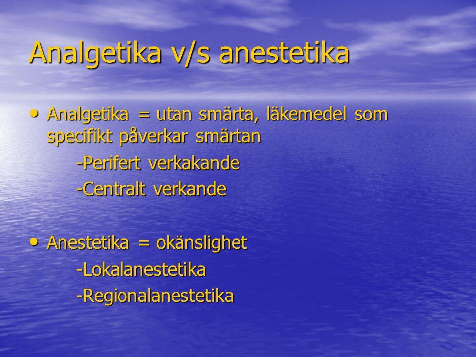 Analgetika v/s anestetika