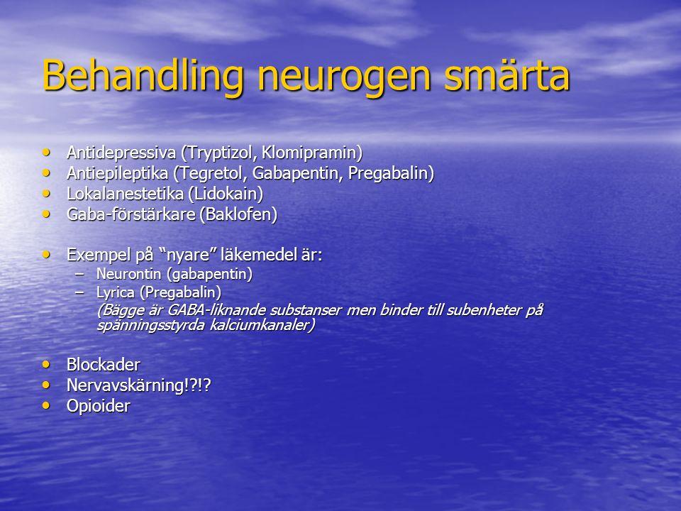 Behandling neurogen smärta