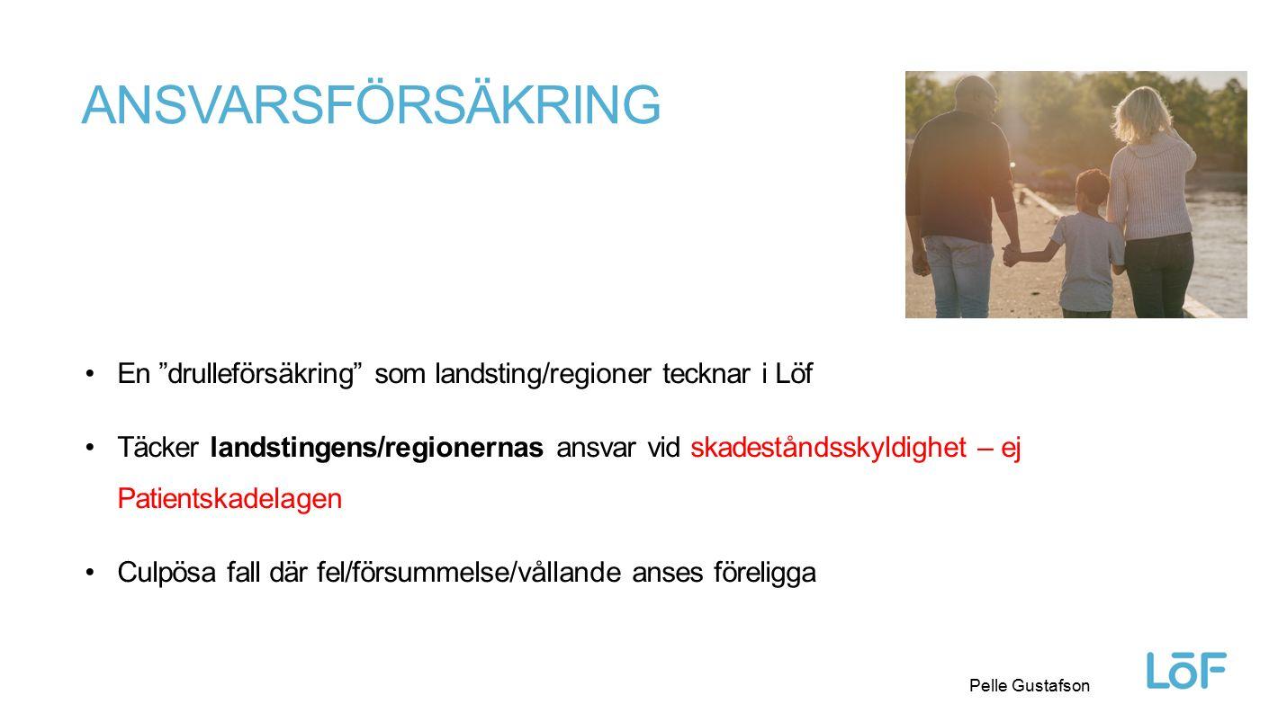 Ansvarsförsäkring En drulleförsäkring som landsting/regioner tecknar i Löf.