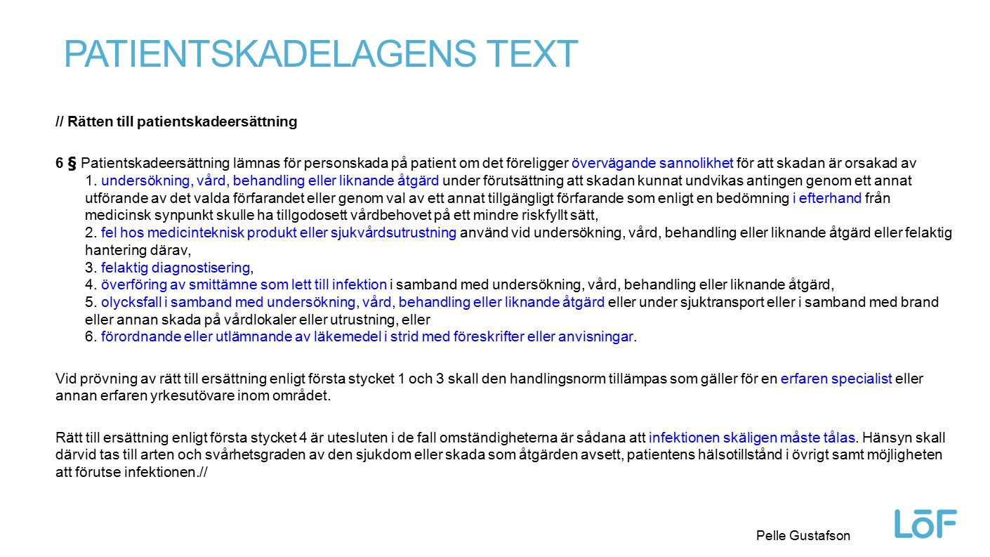 Patientskadelagens text