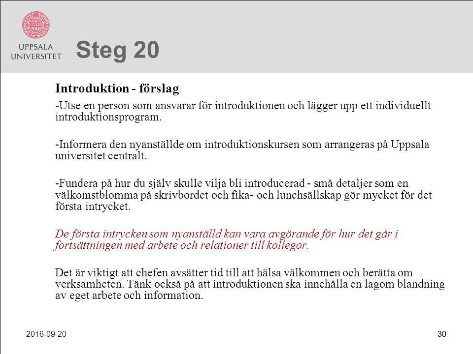 Steg 20 Introduktion - förslag