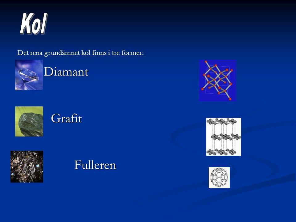 Kol Diamant Grafit Fulleren