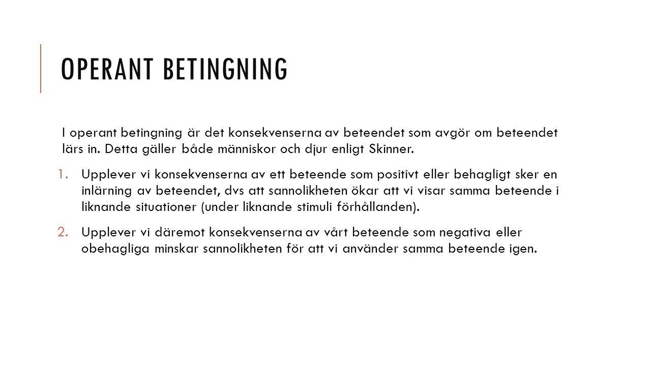 Operant betingning