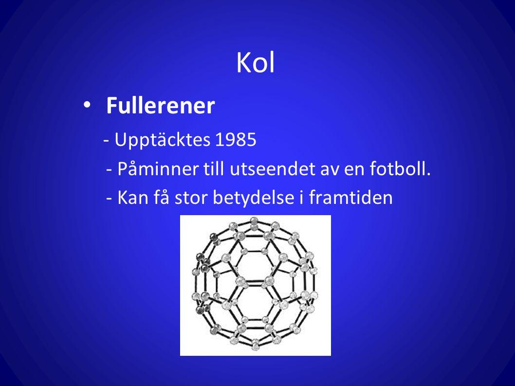 Kol Fullerener - Upptäcktes 1985