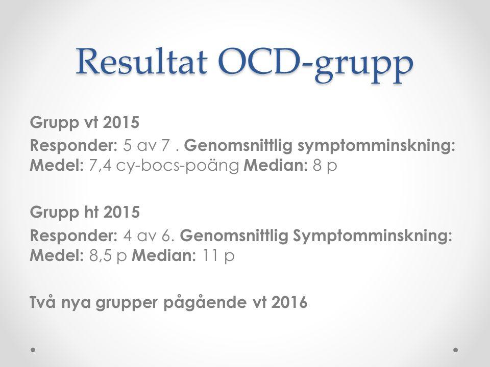 Resultat OCD-grupp