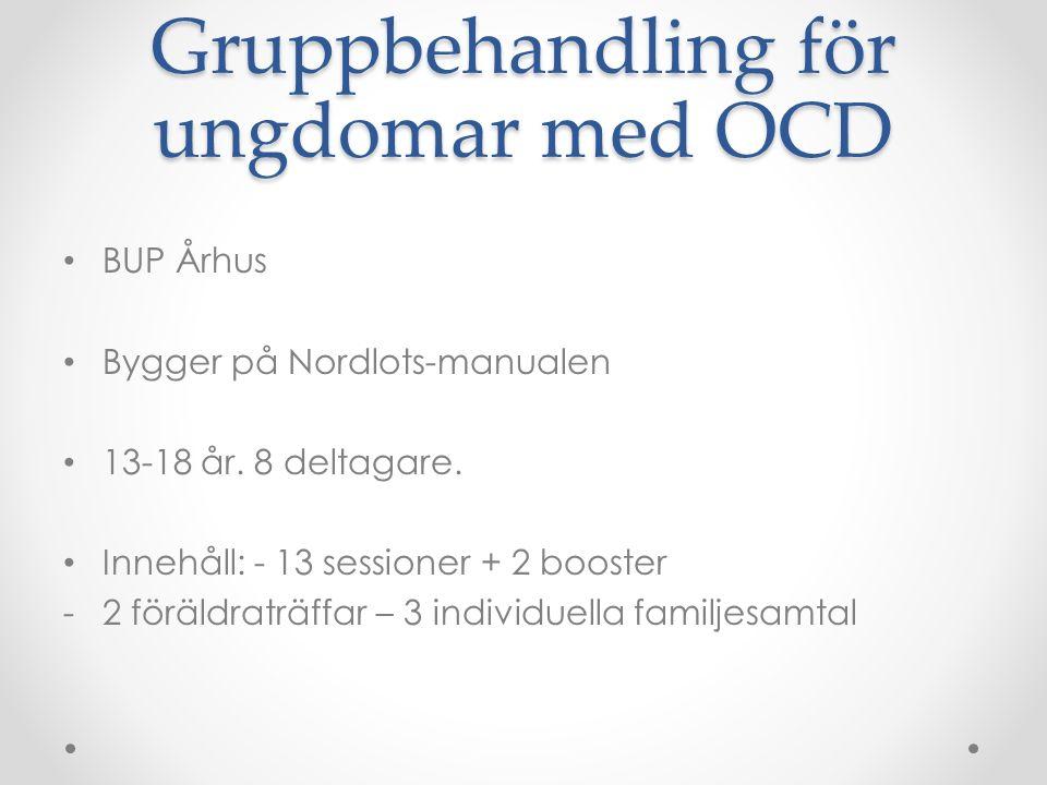 Gruppbehandling för ungdomar med OCD