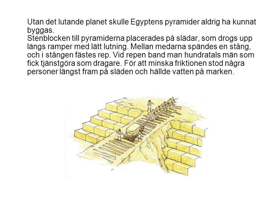 Utan det lutande planet skulle Egyptens pyramider aldrig ha kunnat byggas.