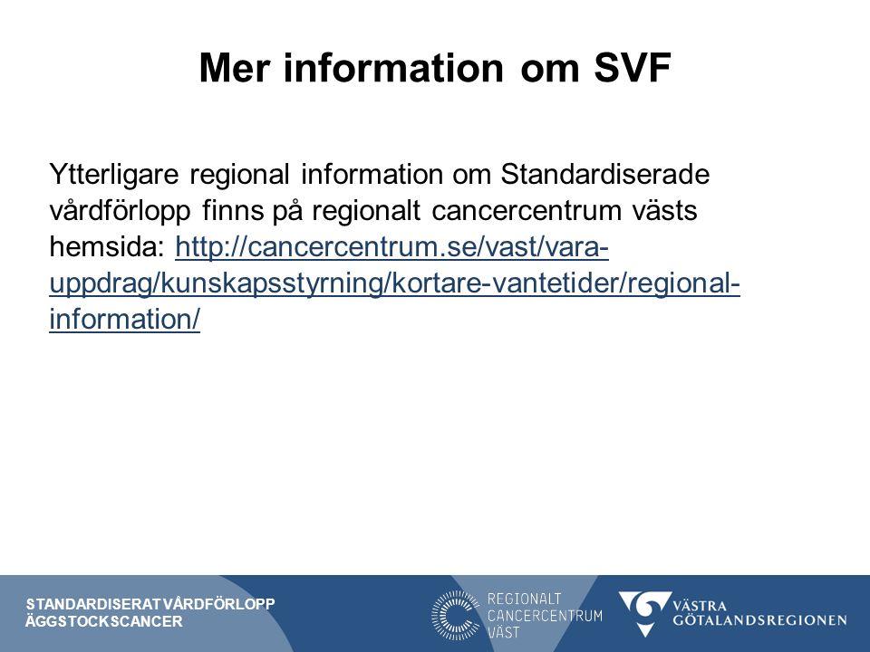 Mer information om SVF