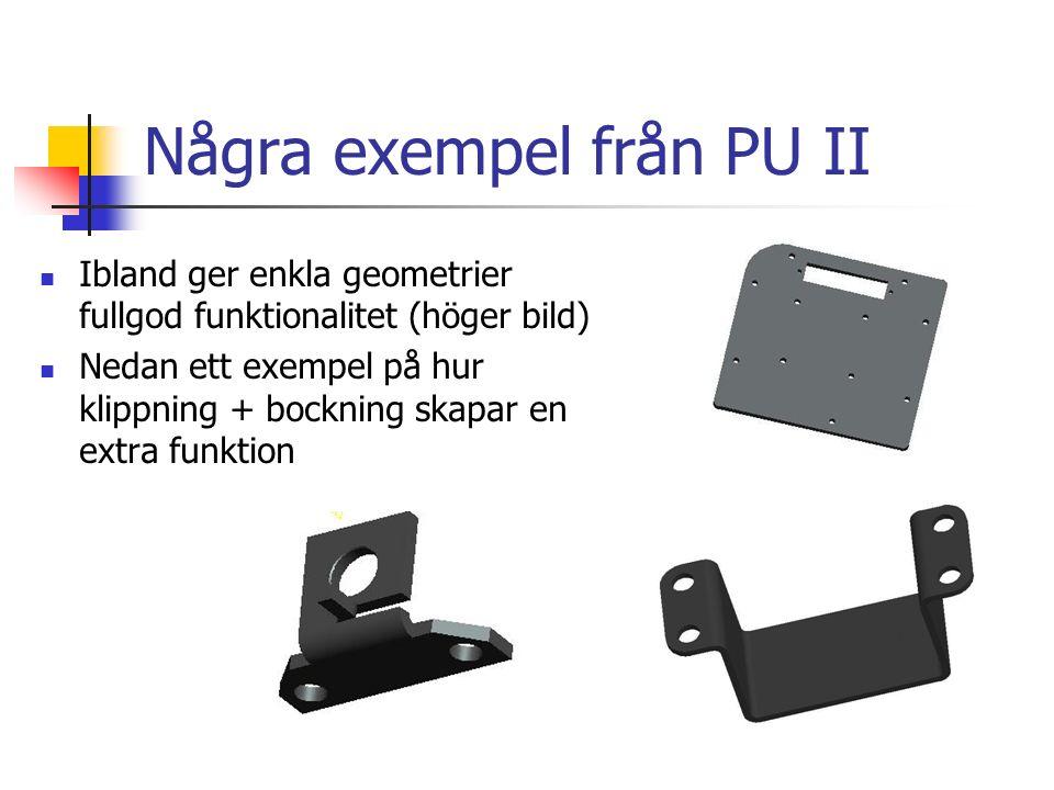 Några exempel från PU II