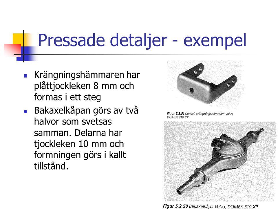 Pressade detaljer - exempel