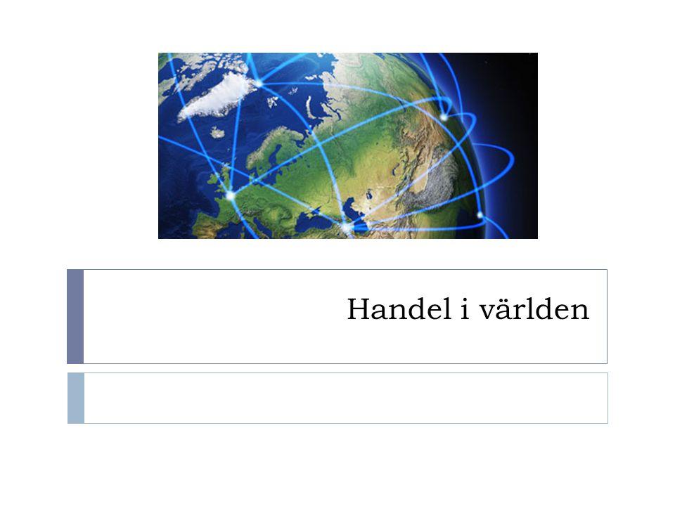 Handel i världen