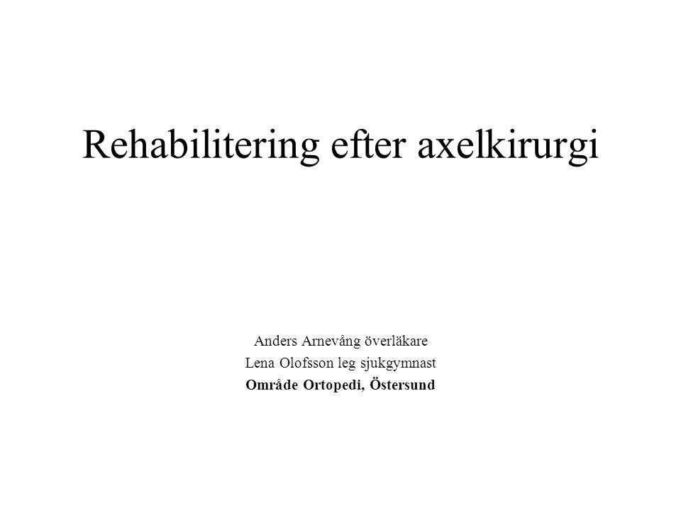 Rehabilitering efter axelkirurgi
