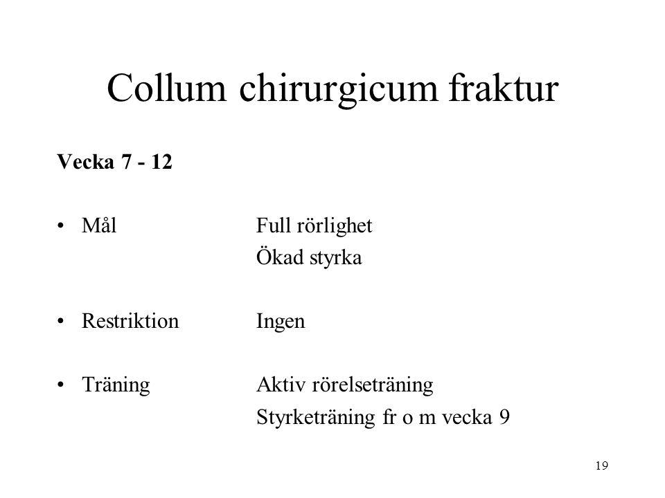 Collum chirurgicum fraktur