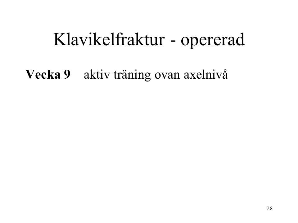Klavikelfraktur - opererad