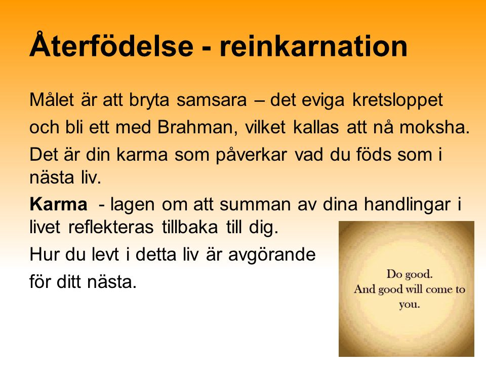 Återfödelse - reinkarnation