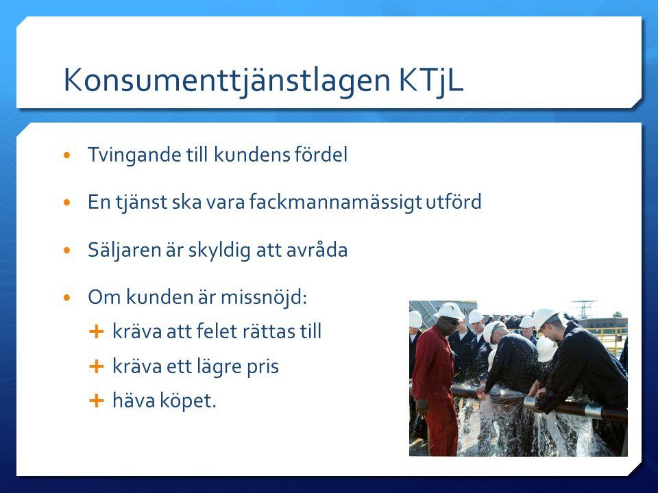 Konsumenttjänstlagen KTjL