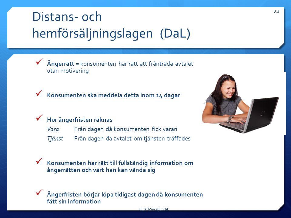 Distans- och hemförsäljningslagen (DaL)