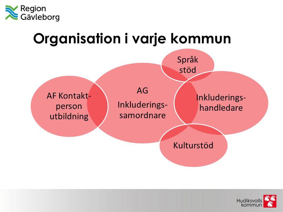 Organisation i varje kommun