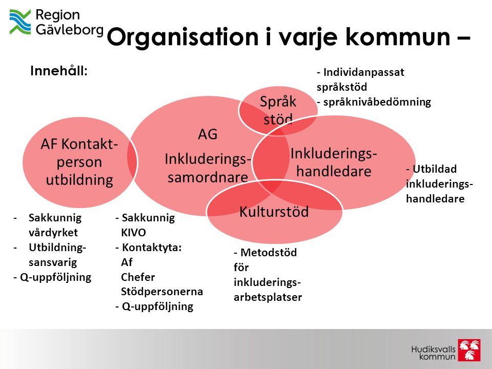 Organisation i varje kommun –