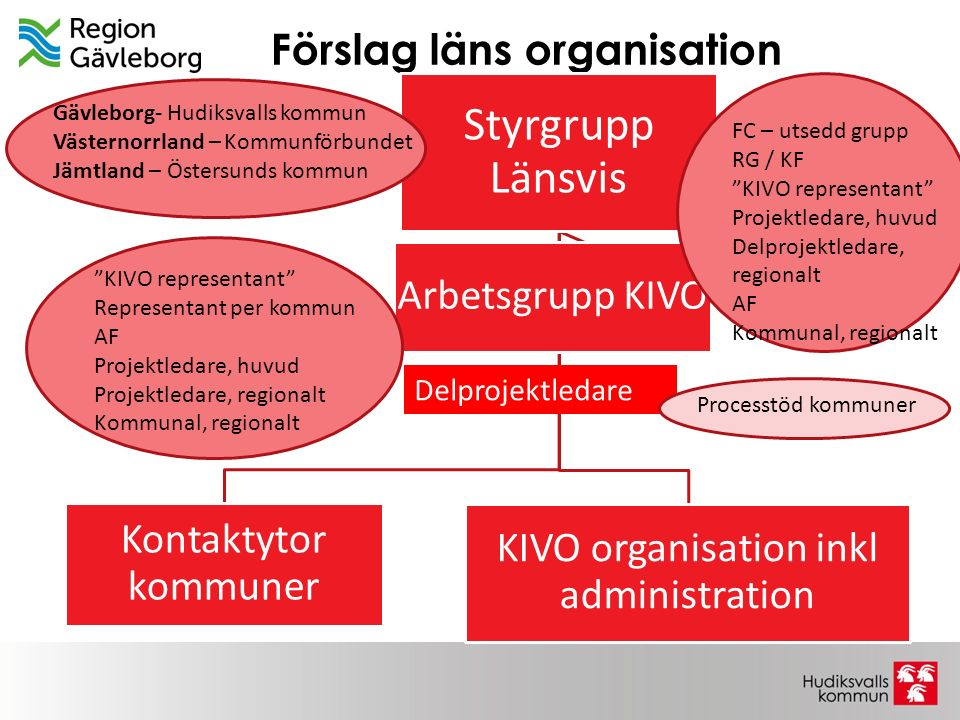 Förslag läns organisation