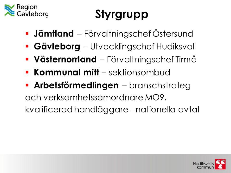 Styrgrupp Jämtland – Förvaltningschef Östersund